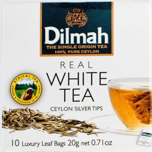 Dilmah White Tea Ceylon Silver Tips Luxury 10 Tea Bags